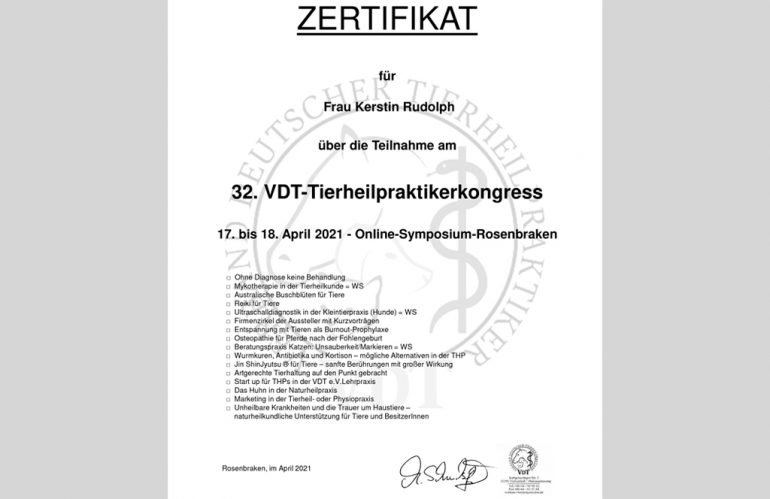 Fortbildung im April 2021